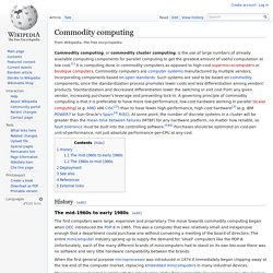 Commodity computing
