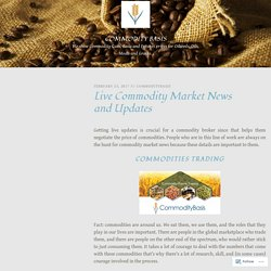 Commodity Market News and Updates