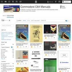 Commodore C64 Manuals : Free Texts : Download & Streaming