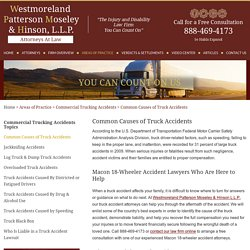 GA Truck Accident Attorneys at Westmoreland, Patterson, Moseley & Hinson, L.L.P.