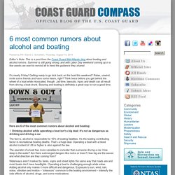 6 most common rumors about alcohol and boating « Coast Guard Compass