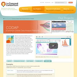 Common Online Data Analysis Platform (CODAP)