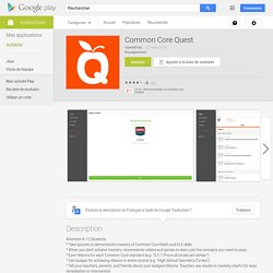 Common Core Quest – Applications Android sur Google Play