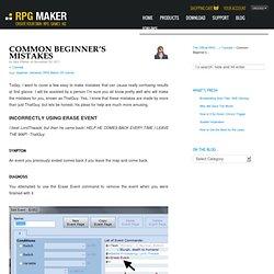 Common Beginner's Mistakes