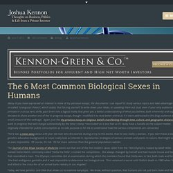 The 6 Most Common Biological Sexes in Humans