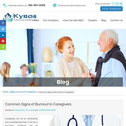 Common Signs of Burnout in Caregivers