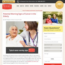 Potential Warning Signs of Cancer in the Elderly