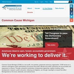Common Cause – Common Cause Michigan