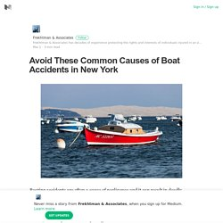 The Most Common Causes Of Boat Accidents in New York