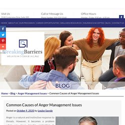 Common Causes of Anger Management Issues