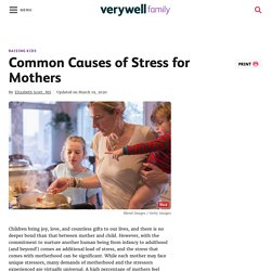Common Causes of Stress for Mothers