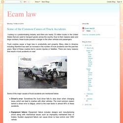 What are the main Causes of Truck Accidents?