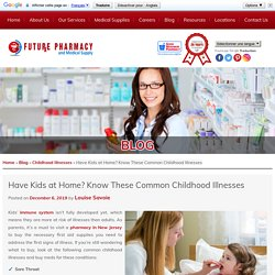 Have Kids at Home? Know These Common Childhood Illnesses