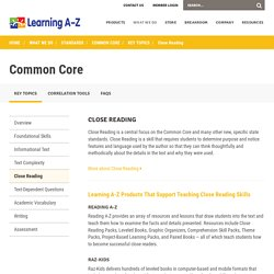 PreK-5 Common Core Close Reading - Learning A-Z