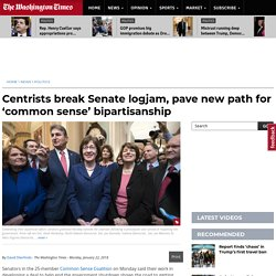 'Common Sense Coalition' sets centrist Senate tone