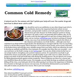 Common Cold Photo &Remedy