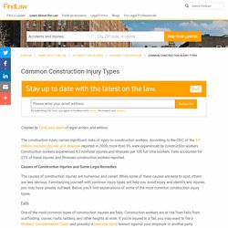 Common Construction Injury Types