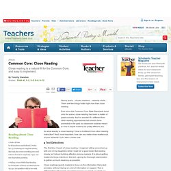 Common Core: Close Reading