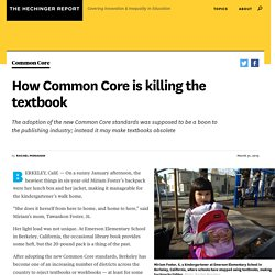How Common Core is killing the textbook