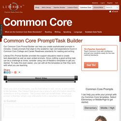 Common Core Prompt/Task Builder