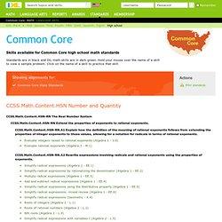 Common Core high school math standards