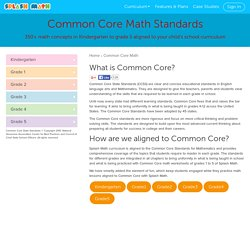 Common Core Standards Math - CCSS - Splash Math