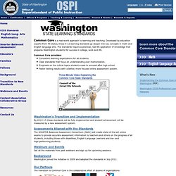 Washington State Common Core State Standards