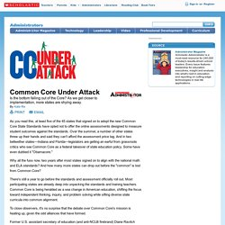 Common Core Under Attack