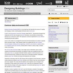 Common data environment CDE