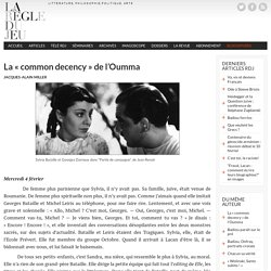 La « common decency » de l'Oumma