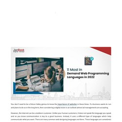 What are the most common web designing languages out there?