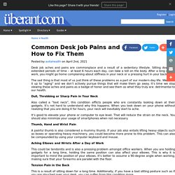 Common Desk Job Pains and How to Fix Them
