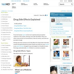 Common Drug Side Effects: Types of Side Effects and FDA Regulations