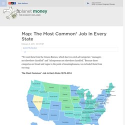 Map: The Most Common* Job In Every State : Planet Money