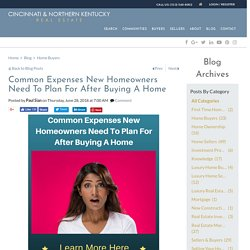 Common New Homeowner Expenses To Be Aware Of