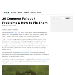 26 Common Fallout 4 Problems & How to Fix Them