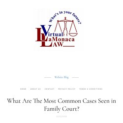 What Are The Most Common Cases Seen in Family Court?