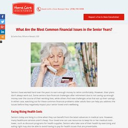 Common Financial Problems for Aging Adults