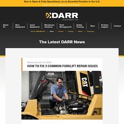 How to Fix 3 Common Forklift Repair Issues
