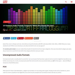 10 Common Audio Formats Compared: Which One Should You Use?