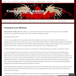 Common Law History