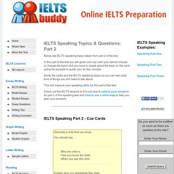 Common IELTS Speaking Topics