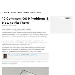 10 Common iOS 9 Problems & How to Fix Them