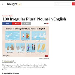 The 100 Most Common Irregular Plural Nouns in English