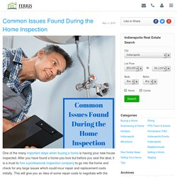 Common Issues Found During the Home Inspection