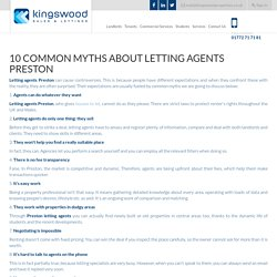 10 Common Myths about Letting Agents Preston