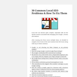 30 Common Local SEO Problems & How To Fix Them