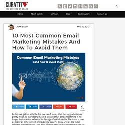 10 Most Common Email Marketing Mistakes And How To Avoid Them