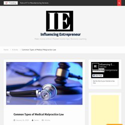 Common Types of Medical Malpractice Law