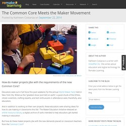 The Common Core Meets the Maker Movement